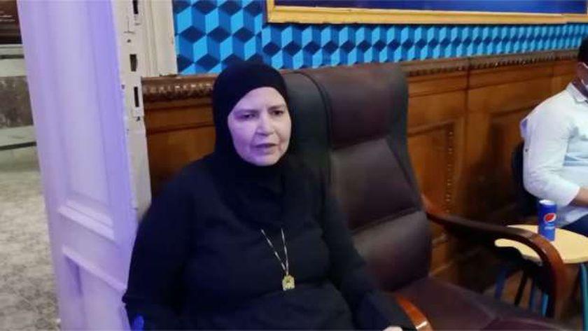 وفاء السيد، والدة الشهيد مصطفى يسري عميرة