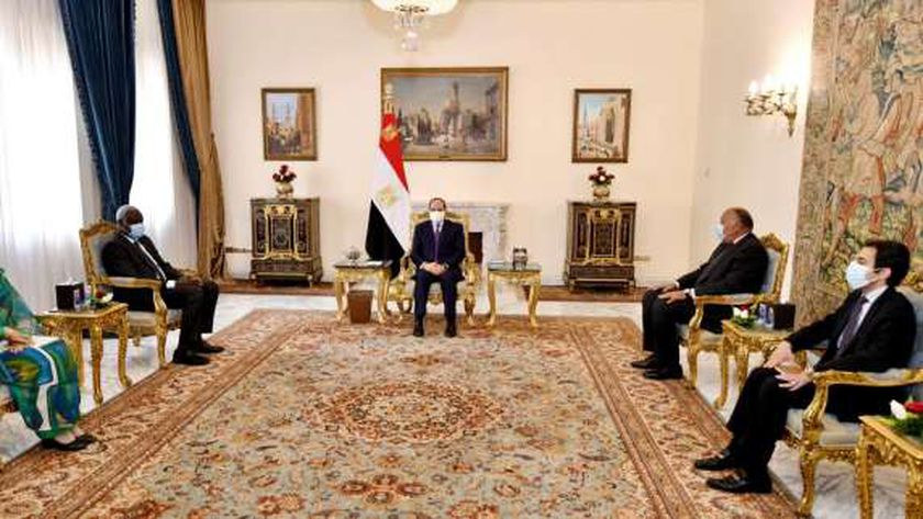 الرئيس السيسي يستقبل موسي فقيه