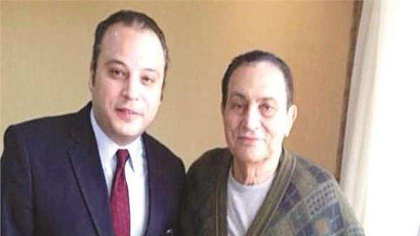 الرئيس الأسبق مبارك مع تامر عبدالمنعم