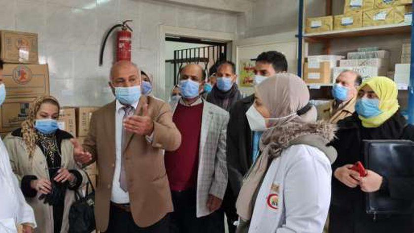 وكيل صحة الغربية يتفقد مستشفي بسيون وضبط 35 صيدلية مخالفة