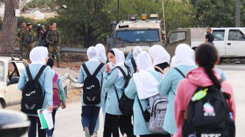 طلاب مدارس في فلسطين - أرشيفية