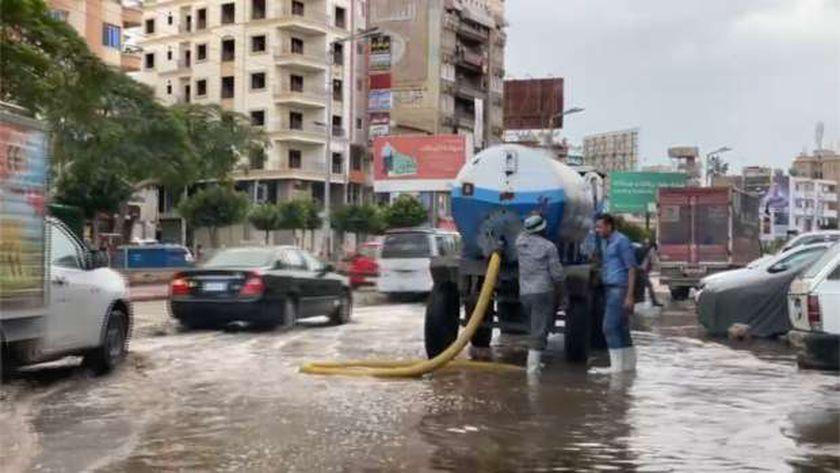 شفط مياه الأمطار