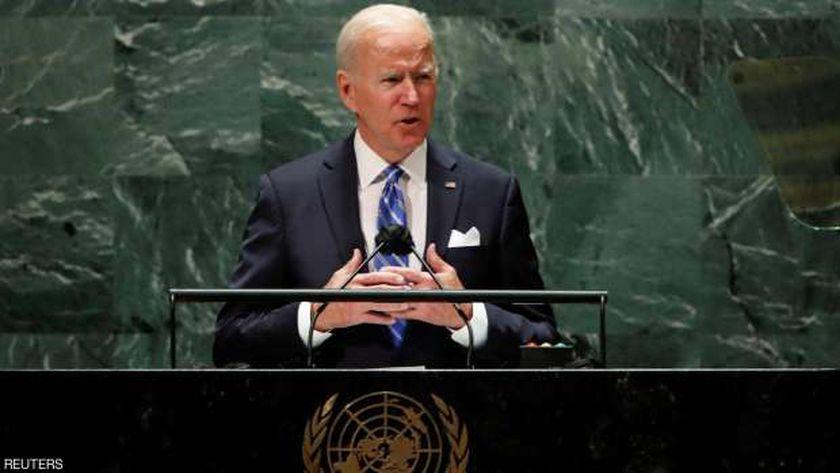 الرئيس الأمريكي جو بايدن خلال كلمته أمام الجمعية العامة للأمم المتحدة