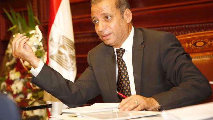 المستشار محمود إسماعيل الآمين العام لمجلس الشيوخ