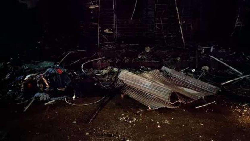 حريق بـ6 محلات في كفر الشيخ