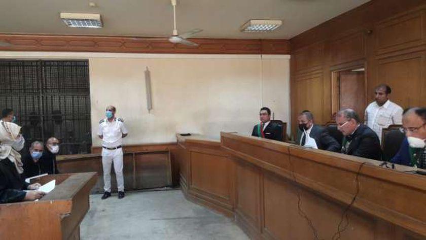 جانب من جلسة محاكمة متحرش المعادي