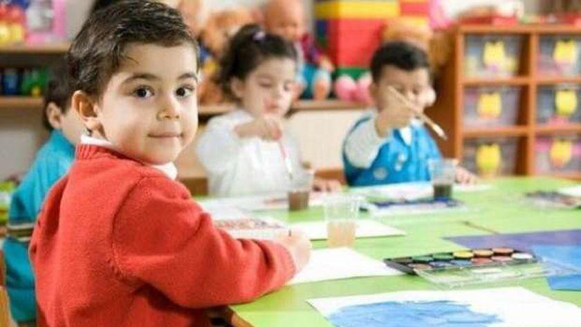 صورة أرشيفية لمجموعة من الأطفال داخل إحدى الحضانات