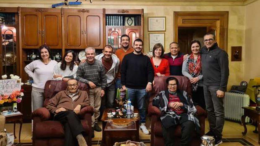 صفوت الشريف مع عائلته