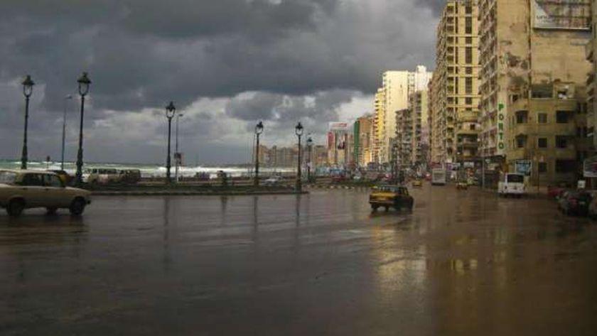صورة أرشيفية لسوء الأحوال الجوية في الاسكندرية