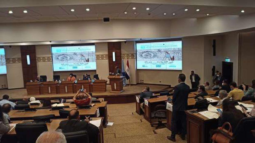 الدكتور هيثم الحاج علي خلال المؤتمر الصحفي لمعرض الكتاب