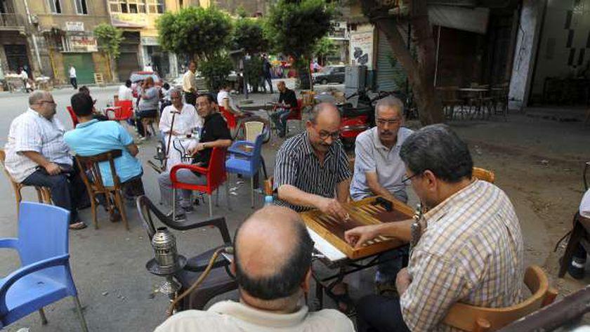جانب من أحد المقاهي في مصر