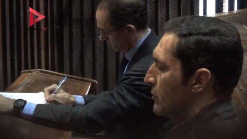 علاء وجمال أثناء إحدى الجلسات