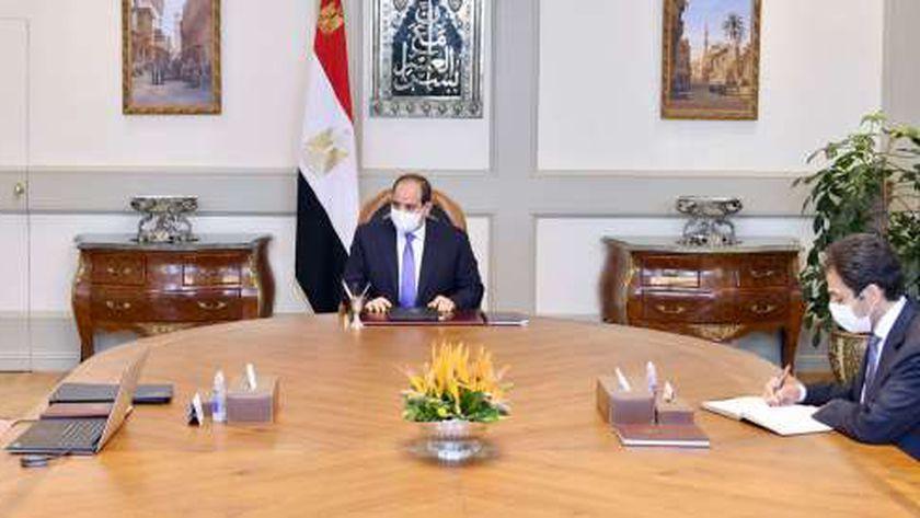 الرئيس  مع وزير العدل
