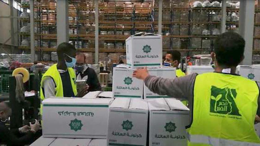 المساعدات المصرية إلى لبنان