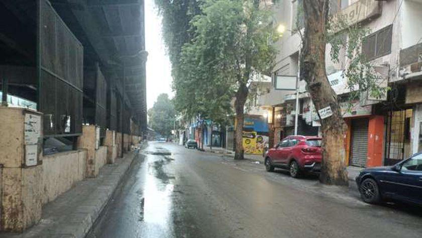 شوارع الجيزة هادئة ونظيفة في الصباح بعد ليلة ممطرة طويلة (فيديو وصور)