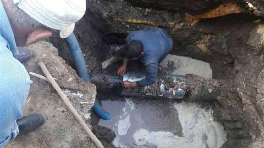إصلاح مواسير مياه الشرب