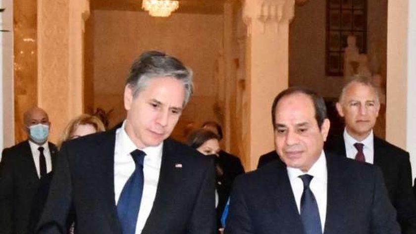 الرئيس عبدالفتاح السيسي يستقبل وزير خارجية الولايات المتحدة الأمريكية