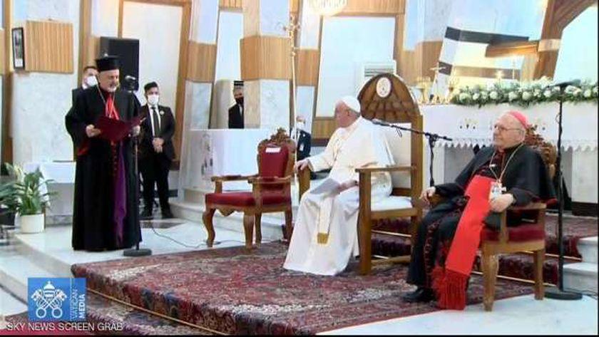 بابا الفاتيكان خلال زيارة العراق