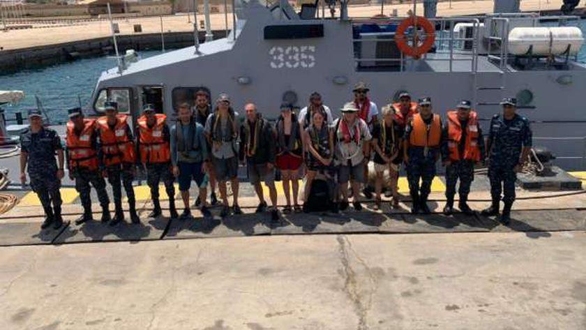 عاجل.. القوات البحرية تنقذ يختا من الغرق بمضيق تيران