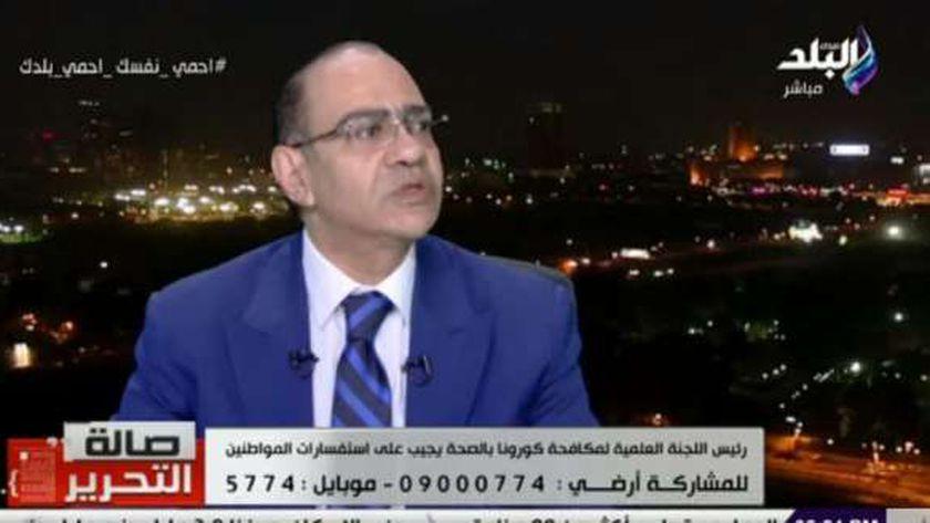 """الدكتور حسام حسني، رئيس اللجنة العلمية لفيروس كورونا المستجد """"كوفيد19"""" بوزارة الصحة والسكان"""
