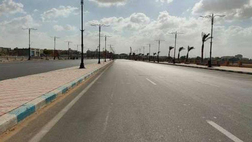 أمن الغربية يواصل غلق الكورنيش في مدن المحافظة