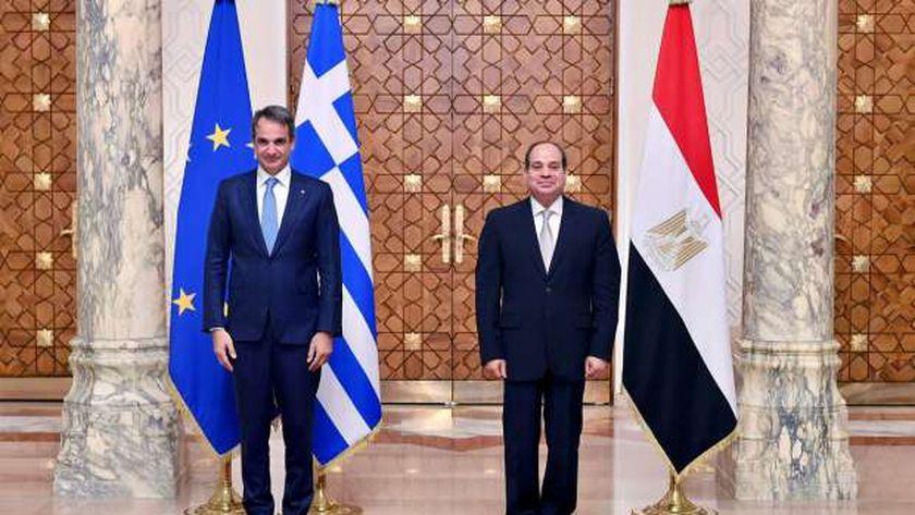 الرئيس «السيسى» خلال لقائه رئيس وزراء اليونان