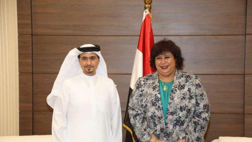 الدكتورة إيناس عبدالدايم وزيرة الثقافة تستقبل رئيس هيئة الشارقة للكتاب