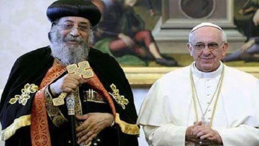 بابا الفاتيكان والبابا تواضروس