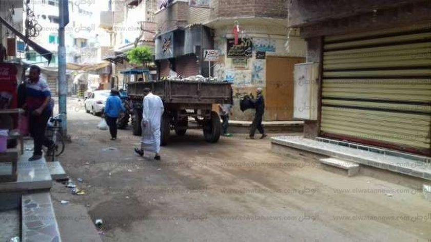 حملة نظافة بفوه فى كفر الشيخ