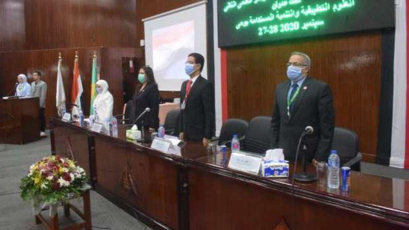 افتتاح فعاليات المؤتمر العلمي عن التنمية المستدامة والعلوم بجامعة بنها