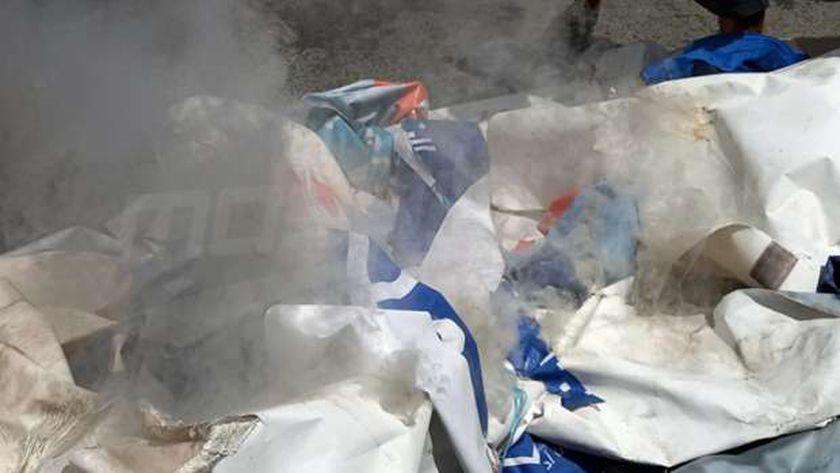 عاجل..حرق محتويات مقر «النهضة» الإخوانية بـ«نفطة» جنوب تونس