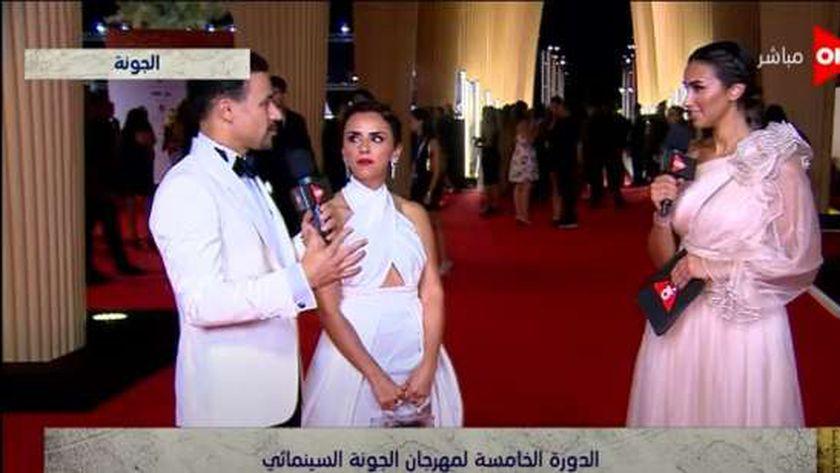 أحمد داود وزوجته علا رشدي