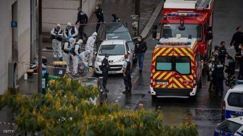 هجوم باريس أمام صحيفة شارلي إيبدو