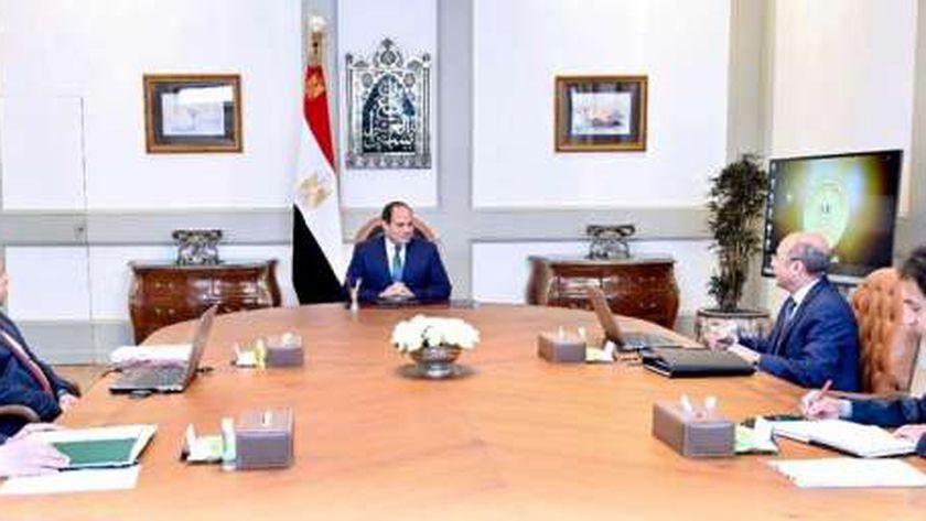 جانب من اجتماع السيسي ووزير العدل