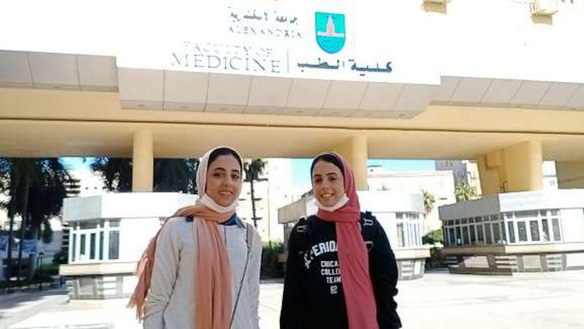 شهد وشروق في كلية الطب جامعة الإسكندرية