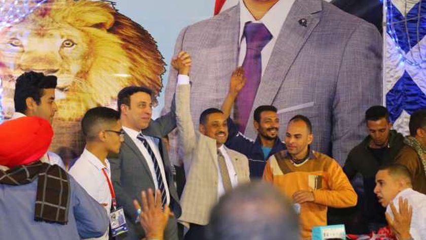 جانب من مؤتمر المرشح العقيد علاء خيرالله