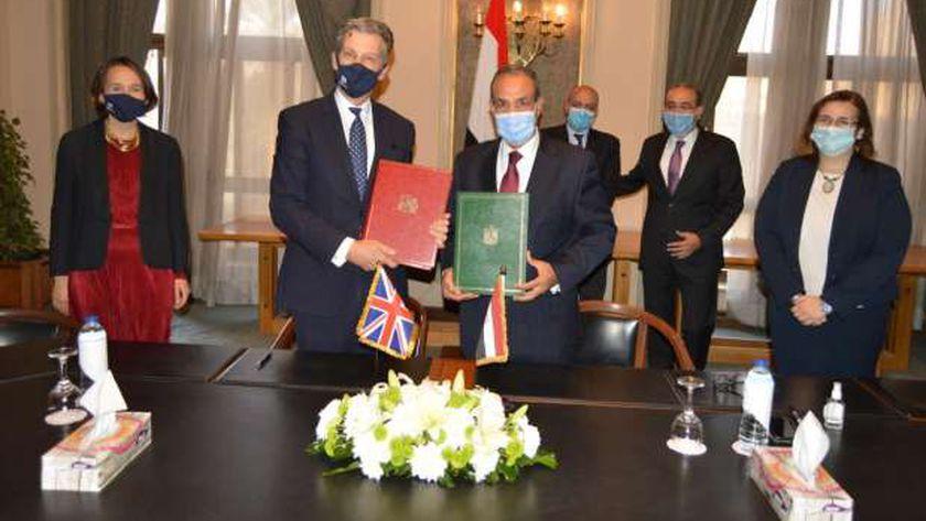 توقيع اتفاقية المشاركة المصرية البريطانية
