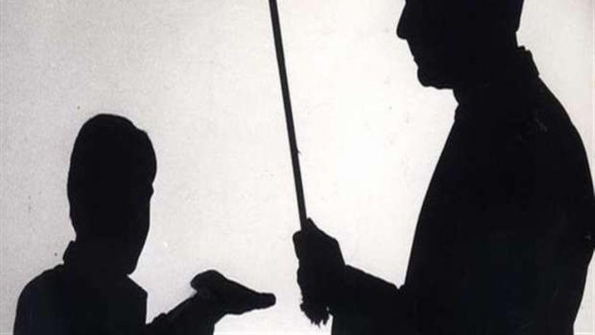 اعتداء المعلم على الطلاب بالضرب