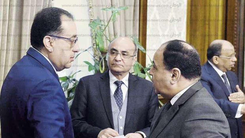 الدكتور مصطفي مدبولي رئيس الوزراء والدكتور محمد معيط وزير المالية