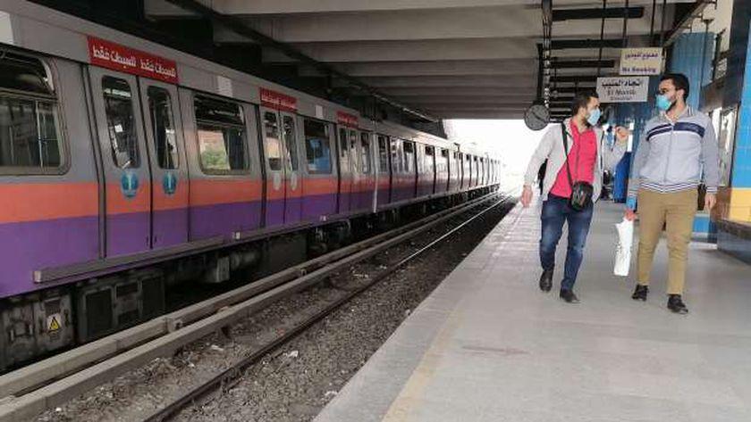 صورة أرشيفية لأحد قطارات مترو الأنفاق