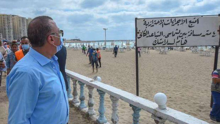 الاجراءات الاحتزازية المتبعة بشواطئ الإسكندرية