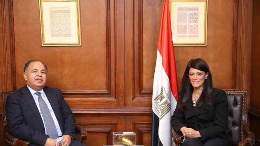 صورة وزير المالية ووزيرة التعاون الدولي