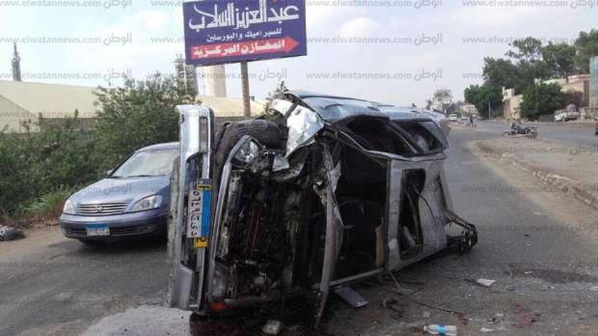 حادث إنقلاب سيارة - صورة ارشيفية