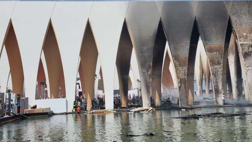 حريق قاعة افتتاح مهرجان الجونة