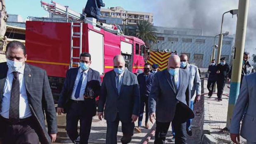 حريق ورش وزارة الصحة