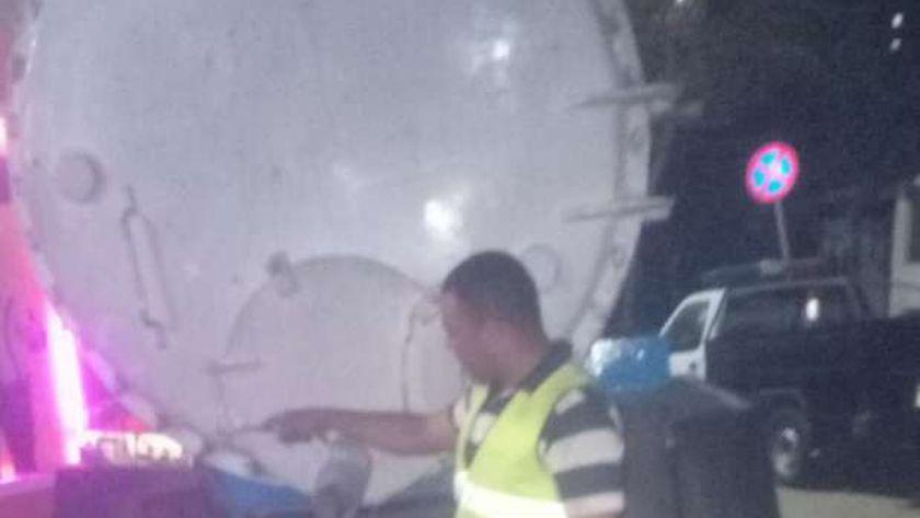 الصرف الصحي في شوارع الإسكندرية