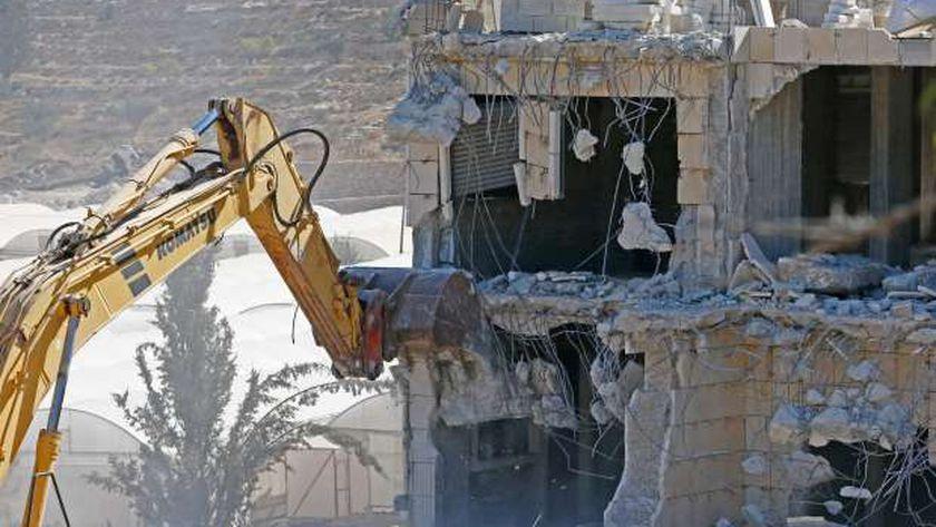 عمليات هدم لمنازل الفلسطينيين