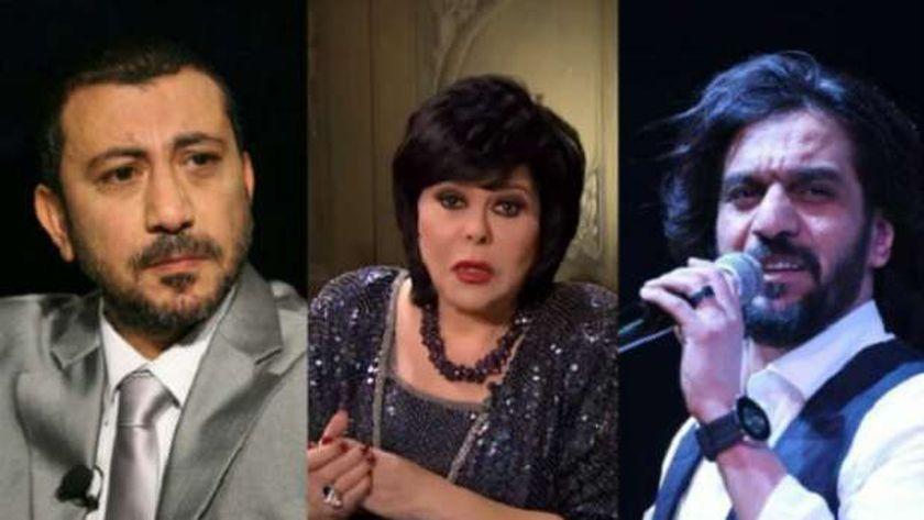 المطرب بهاء سلطان والإعلامية إسعاد يونس والمنتج نصر محروس