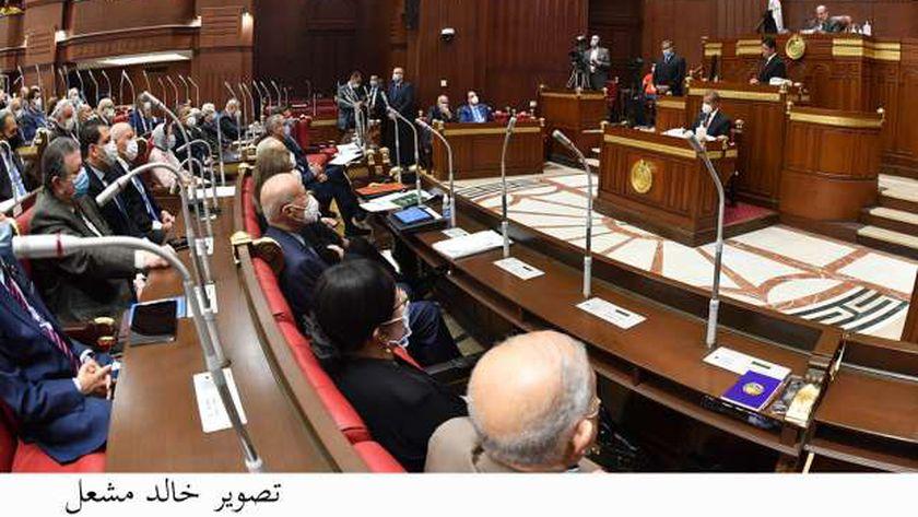مجلس الشيوخ خلال جلسته العامة، اليوم، برئاسة المستشار عبدالوهاب عبدالرازق