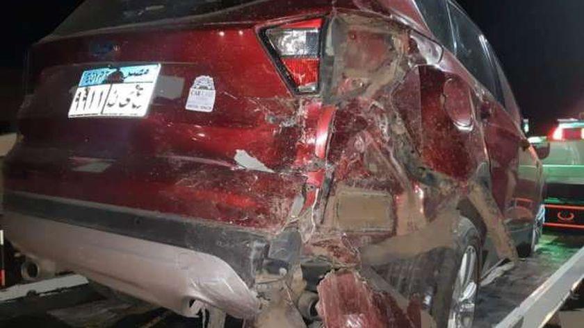 نجاة العميد أحمد يحيي برلماني ممدن الموت قي حادث سير بالغربية